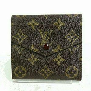 Auth Louis Vuitton Portefuille Elise wallet
